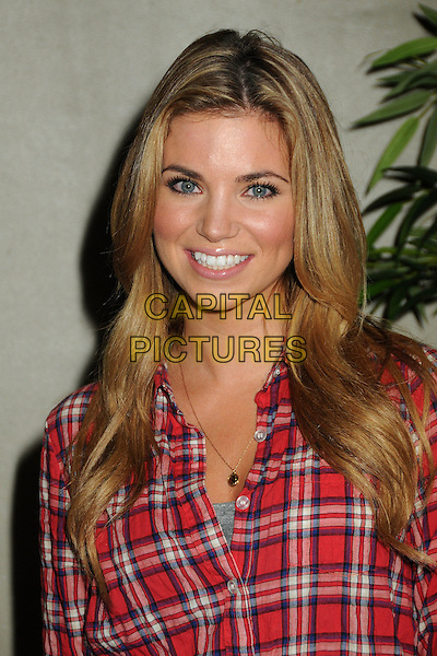 """AMBER LANCASTER.Matt Leinart's 4th Annual """"Bowling With The Stars"""" Event held at Lucky Strike Lanes, Hollywood, California, USA..July 15th, 2010.headshot portrait red plaid tartan shirt.CAP/ADM/BP.©Byron Purvis/AdMedia/Capital Pictures."""
