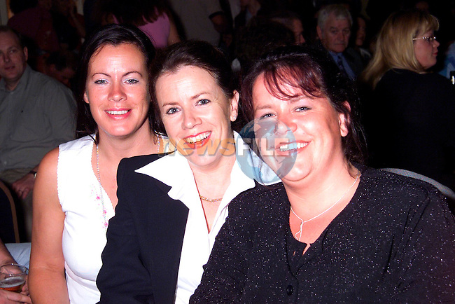 Michelle McNulty, Maria Moore and Paula Lougheed at the Picturehouse gig in the Europa Hotel..Picture: Paul Mohan/Newsfile