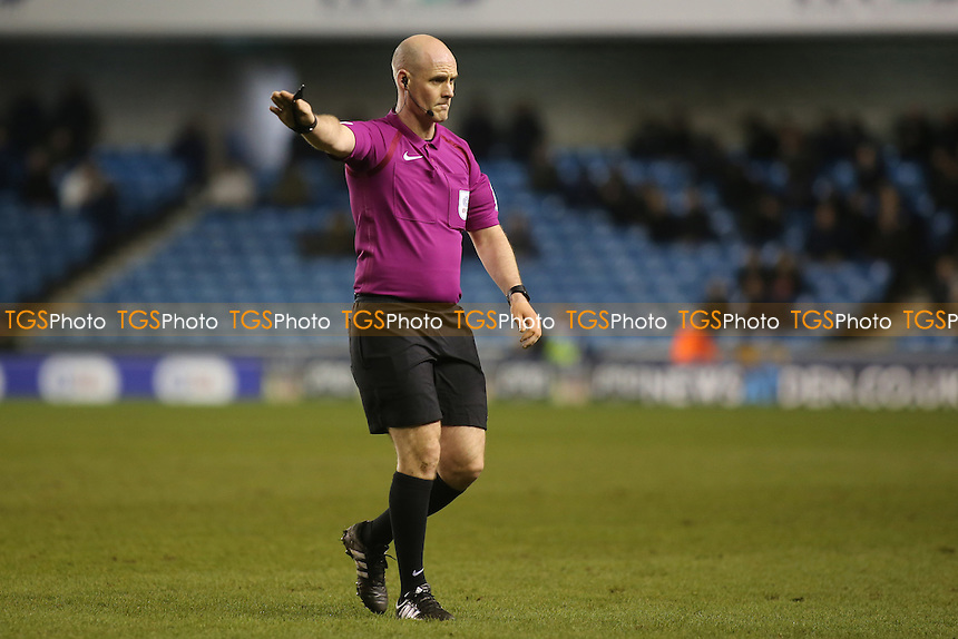 Referee Mr Kevin Johnson during Millwall vs Peterborough United, Sky Bet EFL League 1 Football at The Den on 28th February 2017