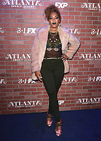 "LOS ANGELES - FEBRUARY 19:  Amanda Seales at the red carpet event for FX's ""Atlanta Robbin' Season"" at the Ace Theatre on February 19, 2018 in Los Angeles, California.(Photo by Scott Kirkland/FX/PictureGroup)"