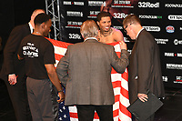 Gervonta Davis finally makes the weight during a Weigh-In at the Theatre Royal Stratford East on 19th May 2017