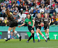 3rd November 2019; Aviva Stadium, Dublin, Leinster, Ireland; FAI Cup Womens Final Football, Peamount United versus Wexford Youth Womens Football Club; Aine O'Gorman tries a shot from the edge of the penalty area for Peamount United - Editorial Use