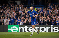 PEDRO of Chelsea celebrates his 1st goal during the UEFA Europa League match between Chelsea and Slavia Prague at Stamford Bridge, London, England on 18 April 2019. Photo by Andy Rowland / PRiME Media Images.<br /> .<br /> .<br /> Editorial use only, license required for commercial use. No use in betting,<br /> games or a single club/league/player publications.'