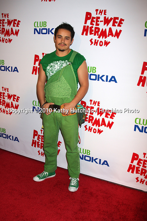 """Jesse Garcia as Sergio.arriving at the """"The Pee Wee Herman Show"""" Opening Night..Club Nokia.Los Angeles, CA.January 20, 2010.©2010 Kathy Hutchins / Hutchins Photo...."""
