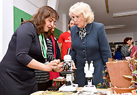 07 February 2019 - Camilla Duchess of Cornwall meets the people who grow garden produce during a visit to the Lambeth GP Food Co-op Garden at Swann Mews, in Stockwell, London. Photo Credit: ALPR/AdMedia