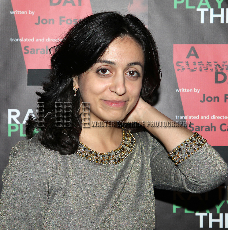 Hadia Yajik  attending the Opening Night Performance of The Rattlestick Playwrights Theater Production of 'A Summer Day' at the Cherry Lane Theatre on 10/25/2012 in New York.