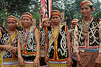 Tamambaloh women in ceremonial dress