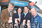 MEETING COMMUNITY NEEDS: Harry Hynes shop in Shanakill has introduced the Credit Union stamp machine to make it easier for Credit.Union members to build up their savings accounts. From l-r were: Harry Hynes, Suzanne Ennis, Katrina Rice and Richard O'Halloran.