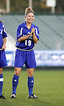 Duke's Rebecca Moros on Friday, November 4th, 2005 at SAS Stadium in Cary, North Carolina. The University of North Carolina Tarheels defeated the Duke University Blue Devils 2-1 in their Atlantic Coast Conference Tournament Semifinal game.