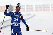 17th March 2019, Ostersund, Sweden; IBU World Championships Biathlon, day 9, mass start men; Dominik Windisch (ITA) crosses the finish line
