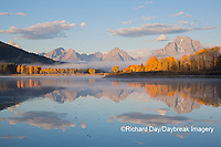 67545-09316 Sunrise at Oxbow Bend in fall; Grand Teton National Park; WY