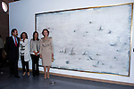 20.09.2012. Queen Sofia of Spain, accompanied by the mayor of Madrid Ana Botella,  the Minister of Health, Social Services and Equality Ana Mato and the Foundation ONCE president, Miguel Carballeda, attend the inauguration of the IV Biennial of Contemporary Art Foundation ONCE, in the Conde Duque Cultural Centre in Madrid. In the image  (L-R) Miguel Carballeda, Ana Botella, Ana Mato and Queen Sofia (Alterphotos/Marta Gonzalez)