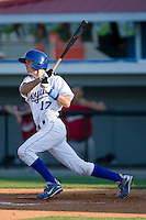 Drew Robertson #17 of the Burlington Royals follows through on his swing against the Kernersville Bulldogs in an exhibition game at Burlington Athletic Stadium June20, 2010, in Burlington, North Carolina.  Photo by Brian Westerholt / Four Seam Images