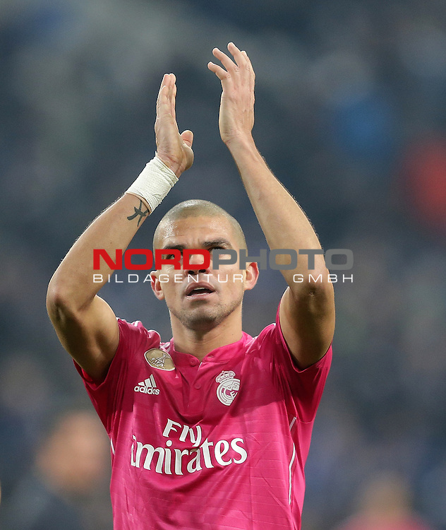 18.02.2015, Veltins-Arena, Gelsenkirchen, Championsleague, FC Schalke 04 vs. Real Madrid<br /> Pepe (Real Madrid)<br /> Foto &copy; nordphoto /  Bratic