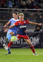 Boyds, MD - Friday Sept. 30, 2016: Taylor Comeau, Joanna Lohman during a National Women's Soccer League (NWSL) semi-finals match between the Washington Spirit and the Chicago Red Stars at Maureen Hendricks Field, Maryland SoccerPlex. The Washington Spirit won 2-1 in overtime.