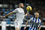 Real Madrid´s Karim Benzema during La Liga match at Santiago Bernabeu stadium in Madrid, Spain. February 14, 2015. (ALTERPHOTOS/Victor Blanco)