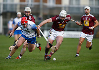 2nd February 2020; TEG Cusack Park, Mullingar, Westmeath, Ireland; Allianz Division 1 Hurling, Westmeath versus Waterford; Kieran Power (Waterford) and Derek McNicholas (Westmeath) challenge for the ball