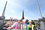 R &amp; M Williams<br /> Topping out at Four Elms Church in Cardiff.<br /> L-R: Kevin Sutton &amp; Jenny Clemence, Architects with Beth Gamble, No Fit State Circus.<br /> <br /> 20.08.13<br /> <br /> &copy;Steve Pope-Fotowales