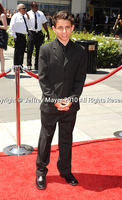LOS ANGELES, CA. - August 21: Moises Arias arrives at the 62nd Primetime Creative Arts Emmy Awards at Nokia Theatre LA Live on August 21, 2010 in Los Angeles, California.