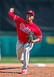 11 March 2016: Philadelphia Phillies pitcher Gregory Infante on the mound during a Spring Training pre-season game against the Atlanta Braves at Champion Stadium in the ESPN Wide World of Sports Complex in Kissimmee, Florida. The Phillies defeated the Braves 9-2 in Grapefruit League play. Mandatory Credit: Ed Wolfstein Photo *** RAW (NEF) Image File Available ***