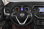 Car pictures of steering wheel view of a 2015 Jeep Cherokee Limited 5 Door SUV