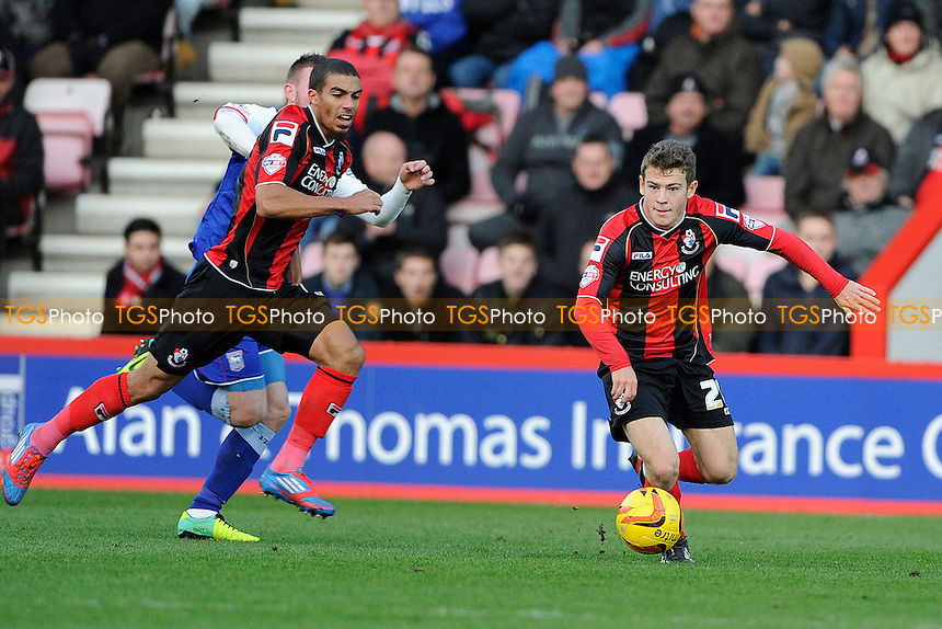 Ryan Fraser of AFC Bournemouth lays off a pass - AFC Bournemouth vs Ipswich Town - Sky Bet Championship Football at the Goldsands Stadium, Bournemouth, Dorset - 29/12/13 - MANDATORY CREDIT: Denis Murphy/TGSPHOTO - Self billing applies where appropriate - 0845 094 6026 - contact@tgsphoto.co.uk - NO UNPAID USE