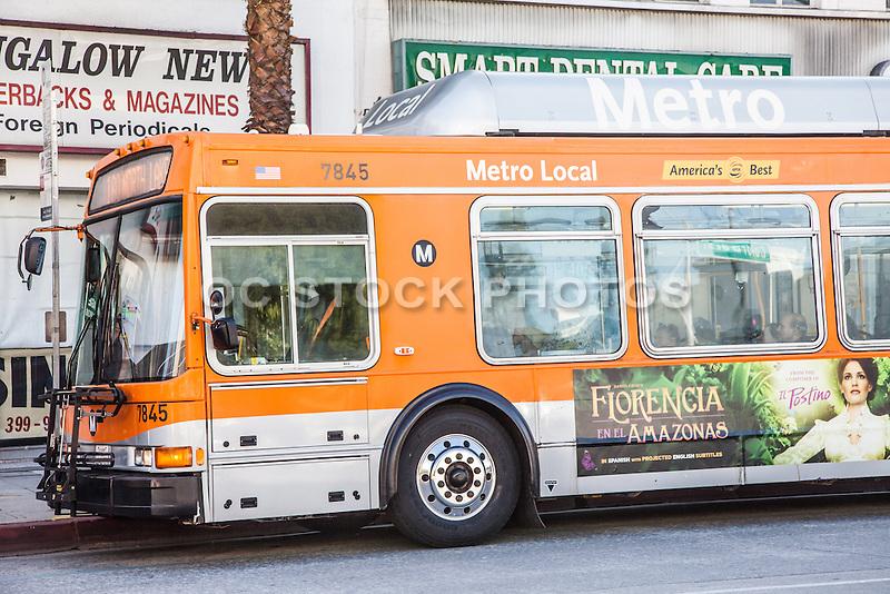 Pasadena Transportation Metro Local Bus on Colorado Boulevard