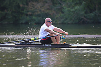 Race: 135  MasH.1x  Semi-Final<br /> 202  Rio Salado Rowing Club, Arizona, USA (Abelson)<br /> 205  Club Mendoza de Regatas, Argentina (Kahr)<br /> <br /> Henley Masters Regatta 2018 - Friday<br /> <br /> To purchase this photo, or to see pricing information for Prints and Downloads, click the blue 'Add to Cart' button at the top-right of the page.