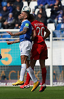 Victor Palsson (SV Darmstadt 98) gegen Vitaly Janelt (VfL Bochum) - 07.03.2020: SV Darmstadt 98 vs. VfL Bochum, Stadion am Boellenfalltor, 2. Bundesliga<br /> <br /> DISCLAIMER: <br /> DFL regulations prohibit any use of photographs as image sequences and/or quasi-video.
