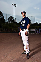 23 May 2009: Yann Dal Zotto of Savigny poses prior to a game against Senart during the 2009 challenge de France, a tournament with the best French baseball teams - all eight elite league clubs - to determine a spot in the European Cup next year, at Montpellier, France. Savigny wins 4-1 over Senart.