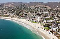 Aerial Stock Photo of Downtown Laguna Beach