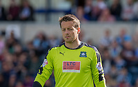 Luke McCormick of Plymouth Argyle during the Sky Bet League 2 match between Wycombe Wanderers and Plymouth Argyle at Adams Park, High Wycombe, England on 12 September 2015. Photo by Andy Rowland.