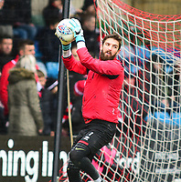 Lincoln City's Josh Vickers during the pre-match warm-up<br /> <br /> Photographer Andrew Vaughan/CameraSport<br /> <br /> The EFL Sky Bet League Two - Lincoln City v Crewe Alexandra - Saturday 6th October 2018 - Sincil Bank - Lincoln<br /> <br /> World Copyright &copy; 2018 CameraSport. All rights reserved. 43 Linden Ave. Countesthorpe. Leicester. England. LE8 5PG - Tel: +44 (0) 116 277 4147 - admin@camerasport.com - www.camerasport.com