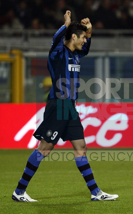 Julio Cruz of Inter celebrates scoring
