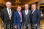 James Foley, Mike Cronin, John O'Leary Peter Keane, pictured at the Kerry Supporters Club social at Ballygarry House Hotel & Spa, Tralee on Saturday night last.