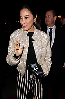 LONDON, ENGLAND - FEBRUARY 09 :  Michelle Yeoh arrives at the Charles Finch and Chanel pre-BAFTA party at Loulou's on February 09, 2019 in London, England.<br /> CAP/AH<br /> &copy;Adam Houghton/Capital Pictures