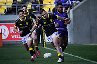 Wes Goosen scores during the Mitre 10 Cup rugby match between Wellington Lions and Otago at Westpac Stadium in Wellington, New Zealand on Sunday, 19 August 2018. Photo: Dave Lintott / lintottphoto.co.nz