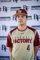 Tommy Biggs (4) of West Monroe High School in Columbia, Louisiana during the Baseball Factory All-America Pre-Season Tournament, powered by Under Armour, on January 12, 2018 at Sloan Park Complex in Mesa, Arizona.  (Zachary Lucy/Four Seam Images)