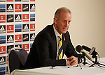 Scotland's stand in manager Billy Stark makes his squad announcement for the match against Luxembourg