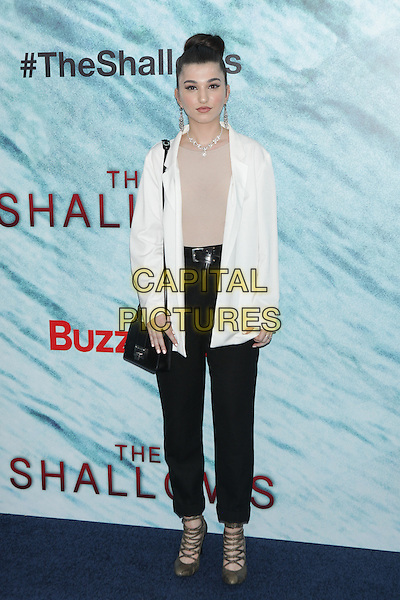 NEW YORK, NY - JUNE 21: Enisa Nik attends  'The Shallows' World Premiere at AMC Lincoln Square on June 21, 2016 in New York City. <br /> CAP/MPI99<br /> &copy;MPI99/Capital Pictures
