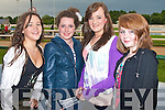 ENJOYING: Enjoying a great time at the Rose of Tralee Festival and Jigsaw fundraiser at the Kingdom Greyhound Stadium on Saturday l-r: Anna Prendivillie, Ballymac, Ayesha Quane and Phena Mulligan, Blennervillie and Grainne McCarthy, Tralee.