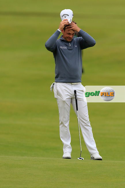 Danny WILLETT (ENG) on the 18th green during Sunday's Round 3 of the 144th Open Championship, St Andrews Old Course, St Andrews, Fife, Scotland. 19/07/2015.<br /> Picture Eoin Clarke, www.golffile.ie