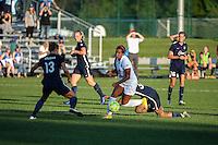 Kansas City, MO - Sunday September 04, 2016: Frances Silva, Kristin Grubka during a regular season National Women's Soccer League (NWSL) match between FC Kansas City and the Sky Blue FC at Swope Soccer Village.