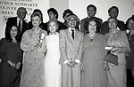 Adolph Green, Betty Comden, Al Pacino, Jerry Herman, Burgess Meredith, Susan Strassberg, Angela lansbury, Lillian Gish, Carol Channing, Ethel Merman, Princess Grace Kelly and Ellen Burstyn at the Theatre Hall Of Fame Awards held on March 28, 1982 at the Uris Theater, now called the Gershwin Theater, New York City.