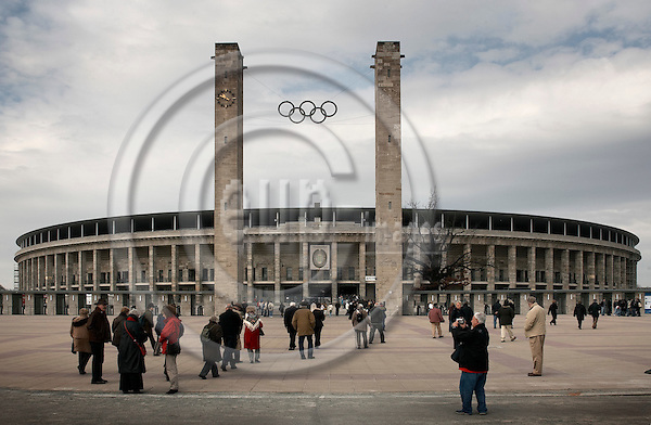 "BERLIN - GERMANY .  2006 --  GERMANY 7. APRIL 2006 -- Olympiastadion in Berlin will host six matches during the FIFA World Cup which starts June 9th 2006, including the finale July 9th. Olympiastadion was build by the nazis to host the olympic games in 1936.  -- PHOTO: CHRISTIAN T. JOERGENSEN / EUP- IMAGES.This image is delivered according to terms set out in ""Terms - Prices & Terms"". (Please see www.eup-images.com for more details)"