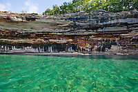 Pictured Rocks colorful cliffs and tropical looking  water