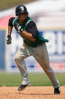 Augusta shortstop Emmanuel Burris (5) takes off for third base versus Kannapolis at Fieldcrest Cannon Stadium in Kannapolis, NC, Monday, September 3, 2007.