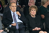 Former Senators Bob Dole and Elizabeth Dole attend the Armed Forces Welcome Ceremony in honor of the Twentieth Chairman of the Joint Chiefs of Staff Mark Milley at Joint Base Myer in Virginia, September 30, 2019.<br /> Credit: Chris Kleponis / Pool via CNP