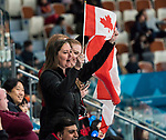 PyeongChang 14/3/2018 - Fans cheer on as Canada takes on Slovakia in wheelchair curling at the Gangneung Curling Centre during the 2018 Winter Paralympic Games in Pyeongchang, Korea. Photo: Dave Holland/Canadian Paralympic Committee