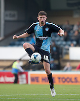 Dan Rowe of Wycombe Wanderers controls the ball during the Sky Bet League 2 match between Wycombe Wanderers and Northampton Town at Adams Park, High Wycombe, England on 3 October 2015. Photo by Andy Rowland.